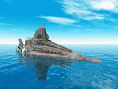 Fantazie ponorka — Stock fotografie