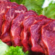 Meat in vetrine — Stock Photo
