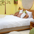 Design of bed in spring theme — Stock Photo #7886895