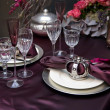 Decoration on christmas table — Stock Photo #7887093