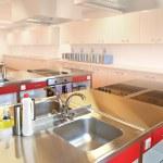 Kitchen in college — Stock Photo
