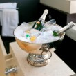 Stock Photo: Bath room with champagne