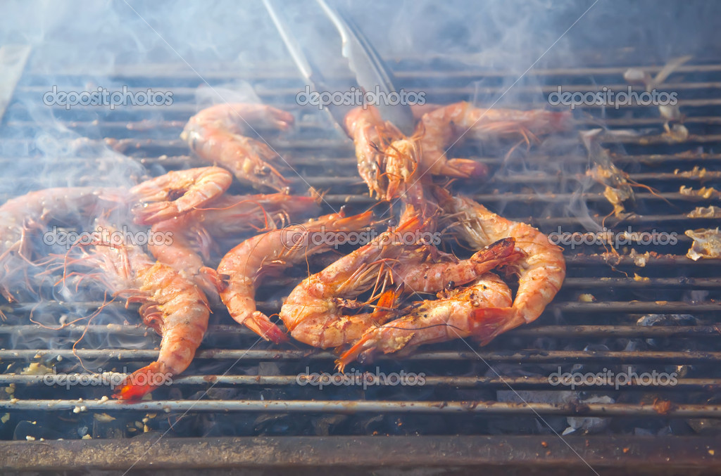 Outside seafood grill — Stock Photo #7888033