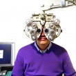 Patient at ophthalmologist — Stock Photo