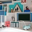 Child room in retro style - Stock Photo