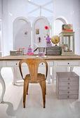 Stół roboczy w domu — Zdjęcie stockowe