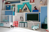 Child room in retro style — Stock Photo