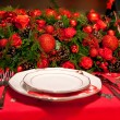 Flowers decoration on table — Stock Photo