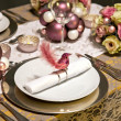 Christmas decoration on table — Stock Photo #7912051