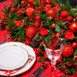 Christmas decoration on table — Stock Photo