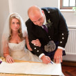 Signing The Register — Stock Photo #6776684