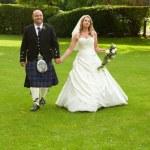 Scottish Newlyweds — Stock Photo #6776800