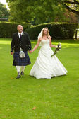 Scottish Newlyweds — Stock Photo