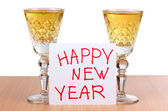 New year wineglasses — Foto Stock