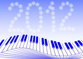 Keys piano new year — Stockfoto