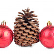 Foto Stock: Cones and red balls