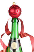 Champagne and ball — Stock Photo