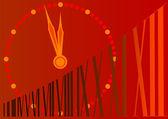 Novoroční hodiny — Stock fotografie