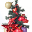 Foto Stock: Tree and decorations