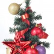 Tree and decorations — Stock Photo #7799321