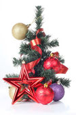 Tree and decorations — Stock Photo