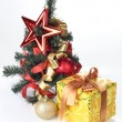 Stock Photo: Tree and yellow box