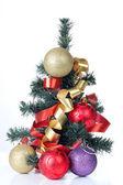 Christmas tree and balls — Stock Photo