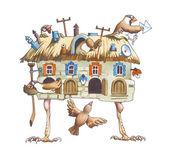 鸟织工 — 图库照片