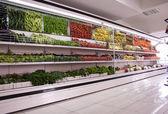 Supermarket background — Stock Photo