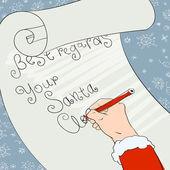 Santa greeting signs. Vector, Eps8 — Stock Vector