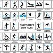Olympic Games Sport Icons — Stockvektor