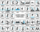 Olympic Games Sport Icons — Stock Vector
