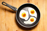 Fried eggs of embryos — Stock Photo