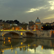 Dusk in Rome - Stock Photo