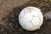 Worn Soccer Ball — Stock Photo