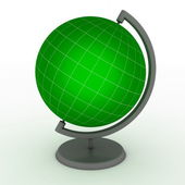 Green School Globe with Meridians and Parallels — Stock Photo