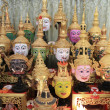 Masks on the shrine — Stock Photo