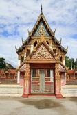 Facade of temple — Stock Photo