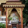 Shrine with monk — Stock Photo #7480751