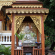 Stock Photo: Shrine with monk