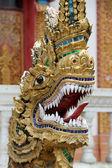 Drago vicino tempio — Foto Stock