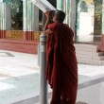 Monk tourist — Stock Photo
