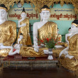 Buddhas in temple — Stock Photo #7491826