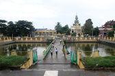 Sacral pond near temple — Stock Photo