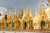 Golden stupas — Stock Photo