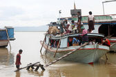 Boats in Mandalay — Stock Photo