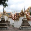 Stupas and temple - Stock Photo