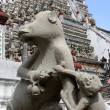 Monkeys and wat Arun — Stock Photo #7527499