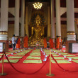 Monks on the red carpet - Lizenzfreies Foto