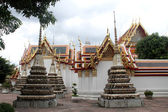 Stupas and temple — Stock Photo